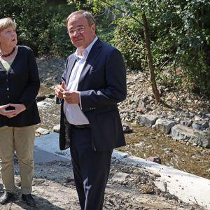 Merkel und Laschet in NRW