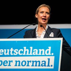 Alice Weidel (AfD) auf Landesparteitag der AfD