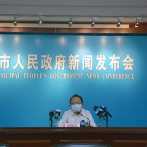 Covid-Pressekonferenz in Xiamen (China)