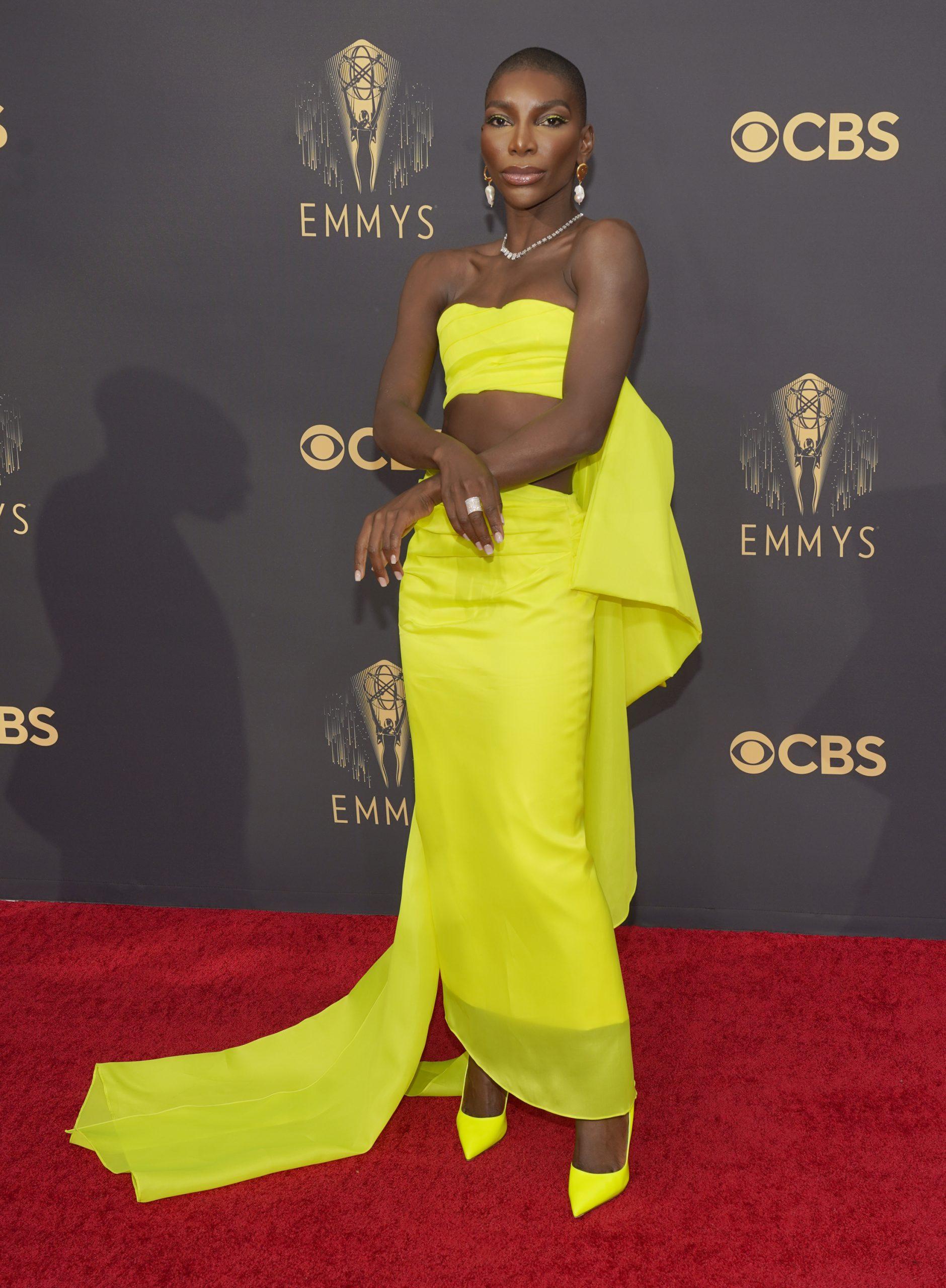 Michaela Coel kommt bei den 73. Primetime Emmy Awards im L.A. Live in Los Angeles an