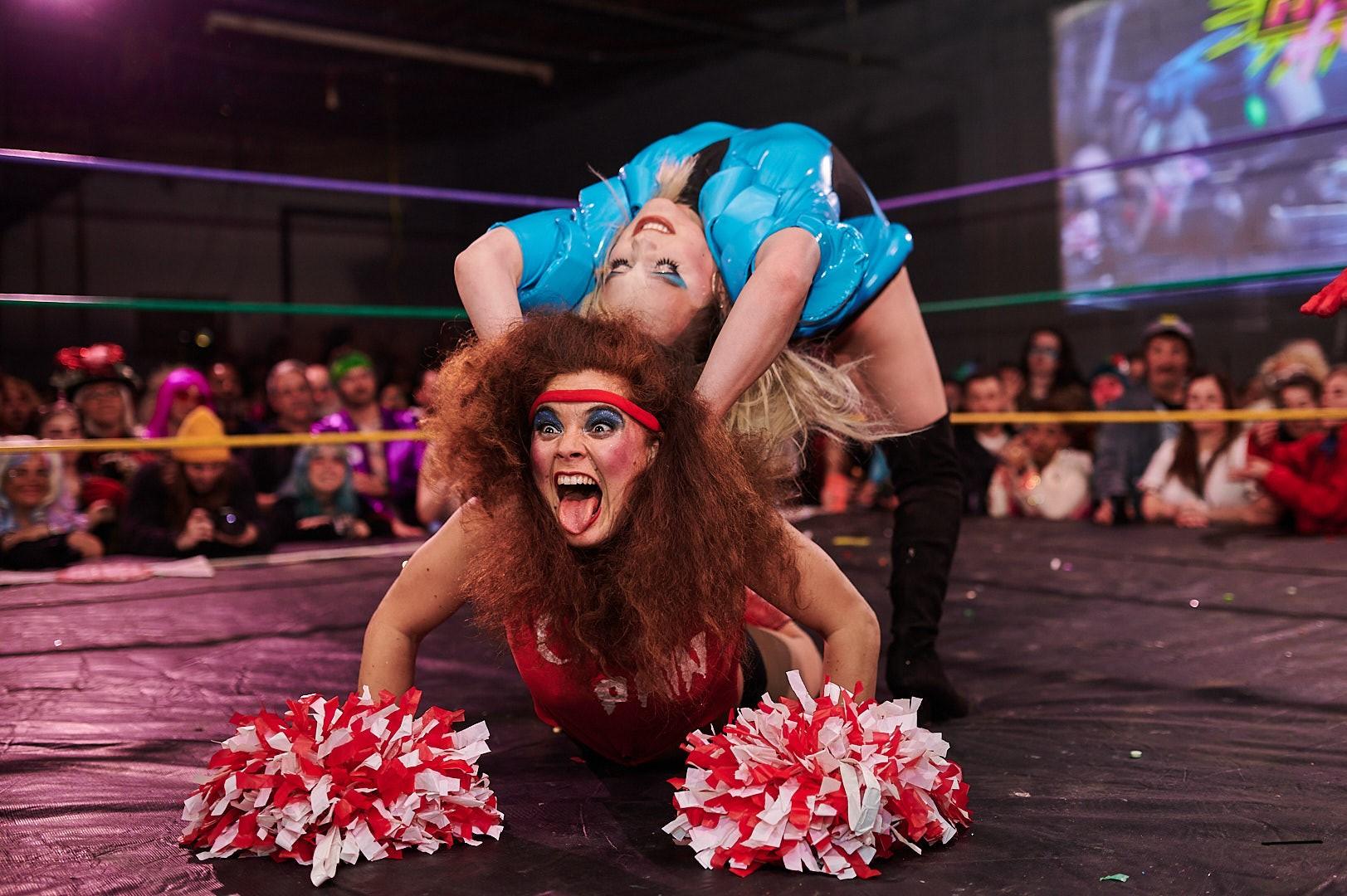 Wrestling-Szene im Ring