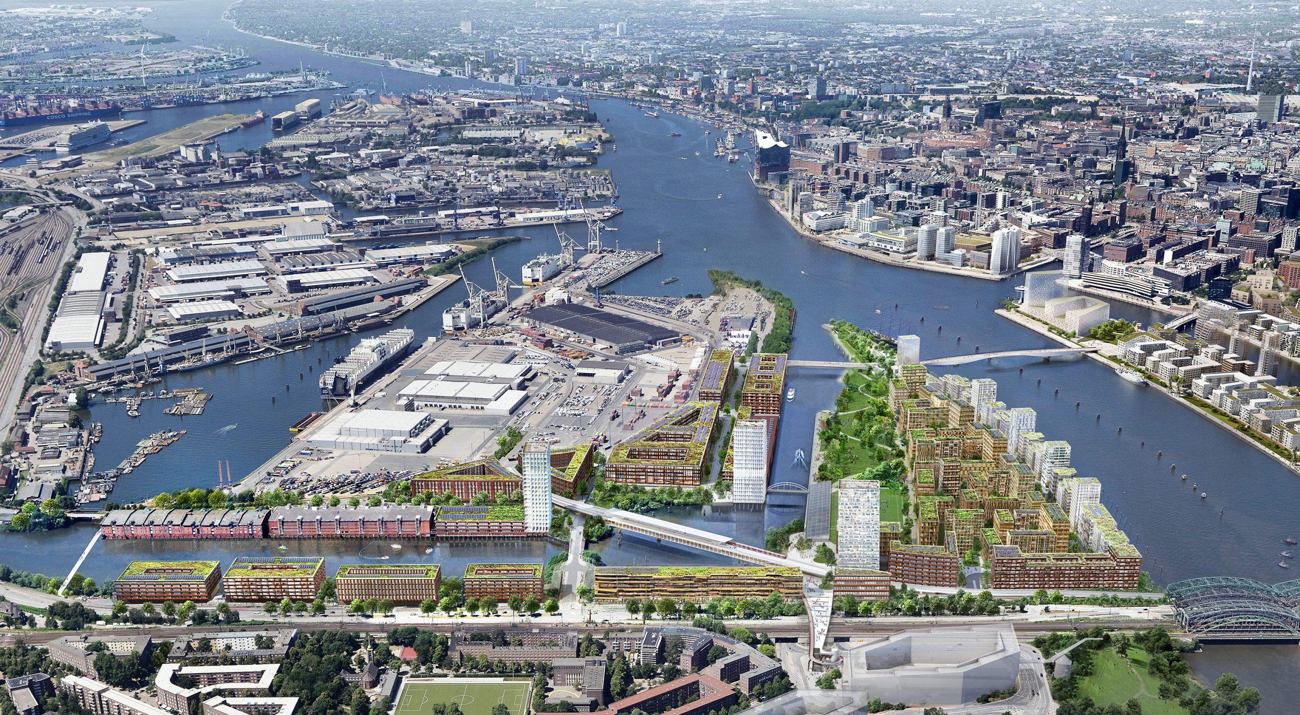 Ohne Autos: Hamburgs neuer Klima-Stadtteil Kleiner Grasbrook