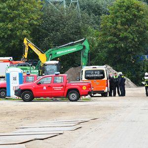 Einsatzkräfte am Fundort in Harburg.