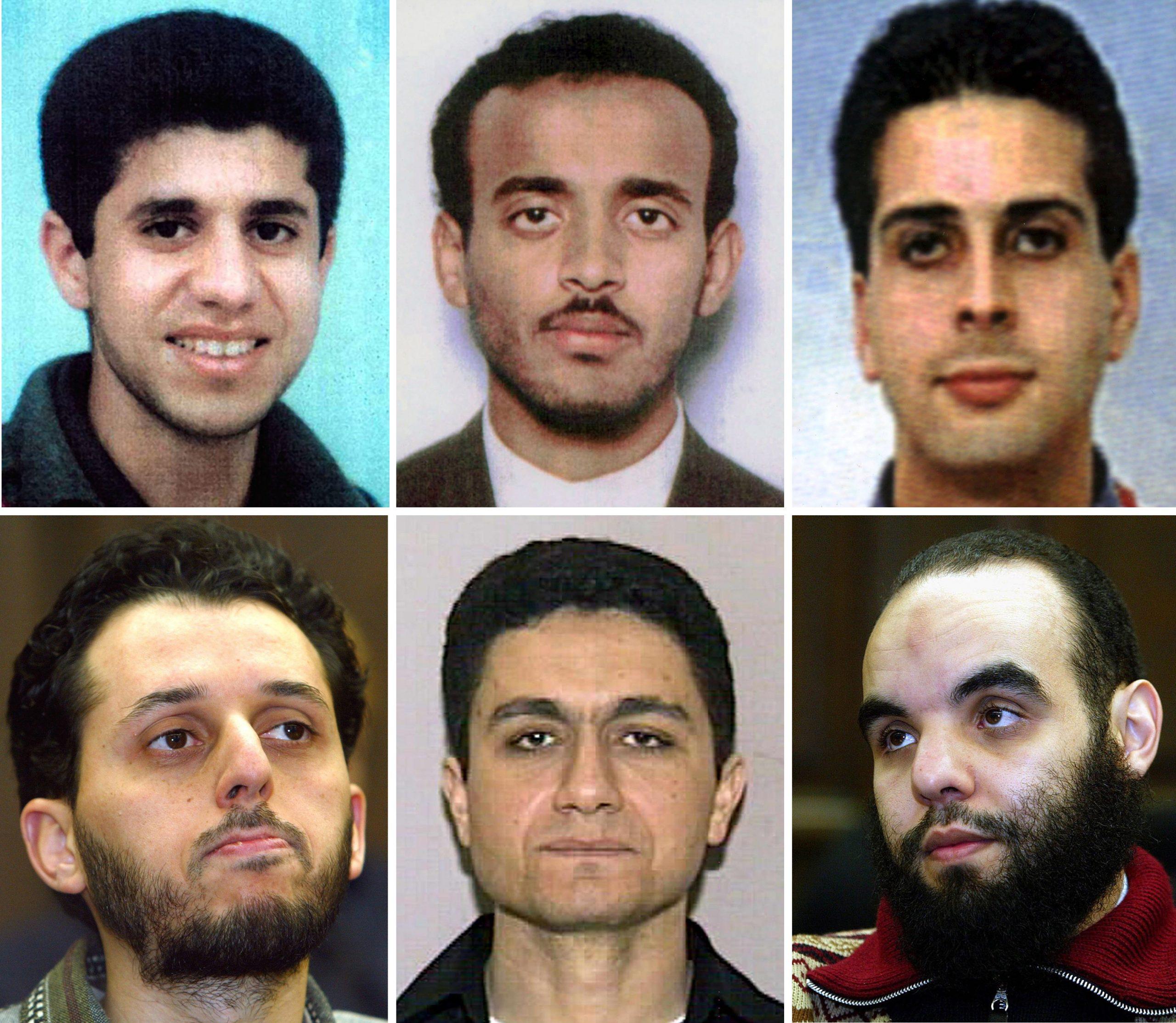 Die Hamburger Terrorzelle um Mohammed Atta (untere Reihe, Mitte).