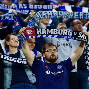 HSV-Fans während der Partie gegen Sandhausen