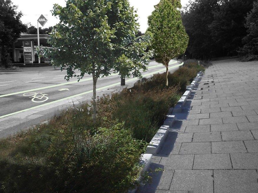 Königstraße Blau Grün Infrastruktur Altona