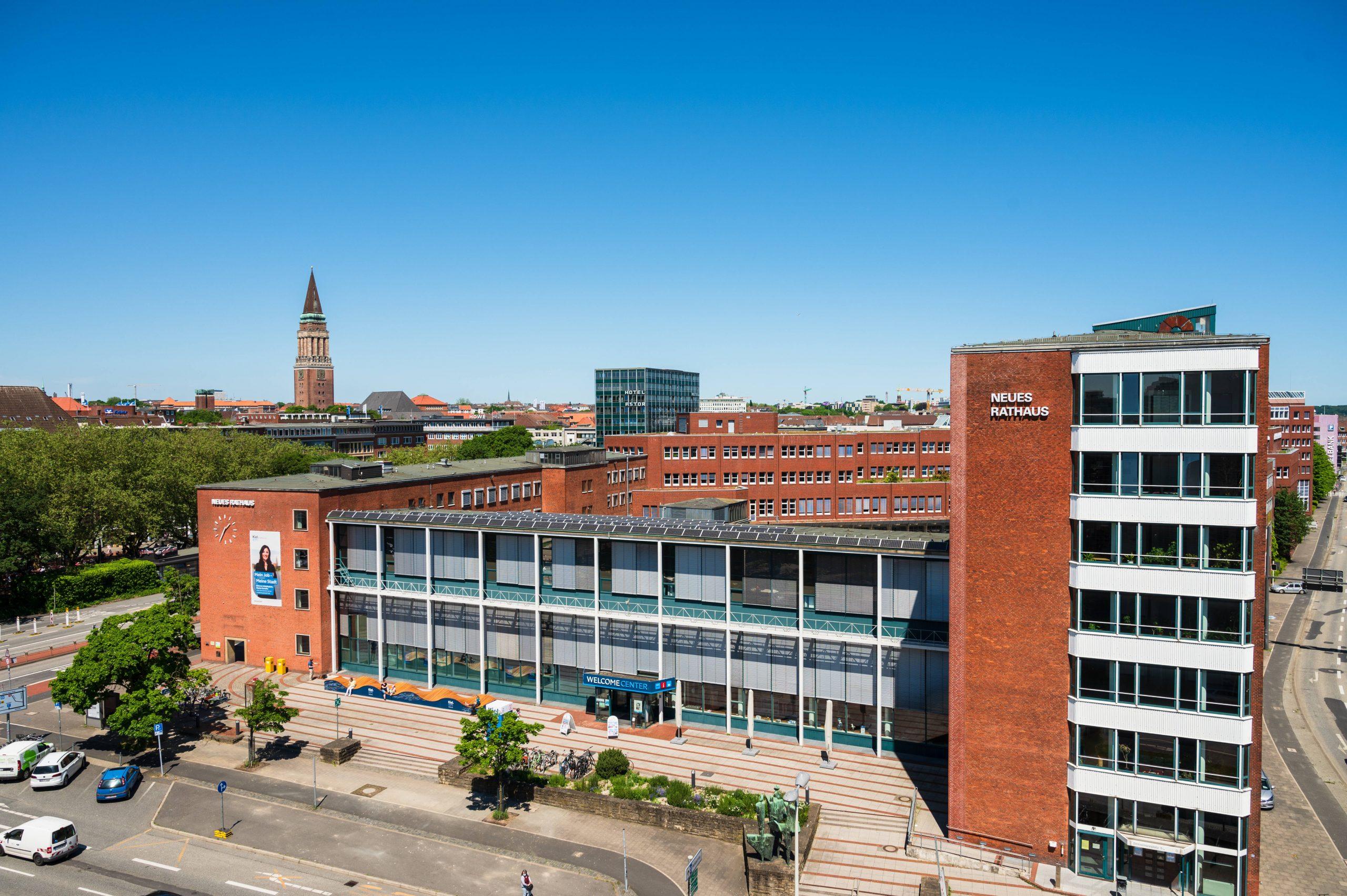 Das Neue Rathaus in Kiel – hier befindet sich auch die Stadtgalerie. (Archivbild)