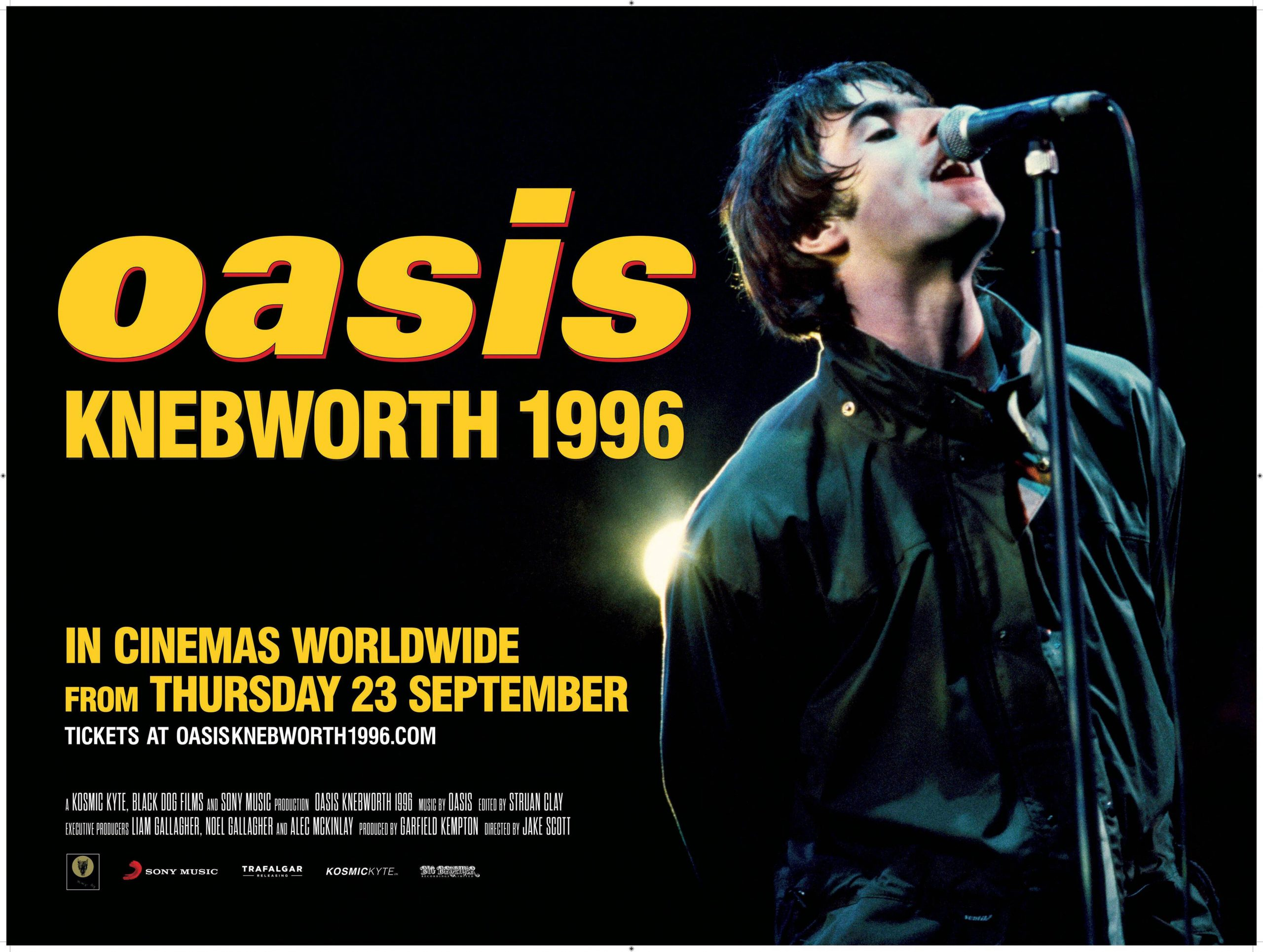 Plakat Film Oasis Knebworth 1996