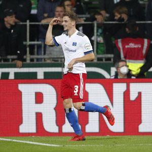 Das Bild wird langsam zur Gewohnheit. Moritz Heyer bejubelte beim Derby in Bremen bereits sein viertes Saisontor für den HSV.