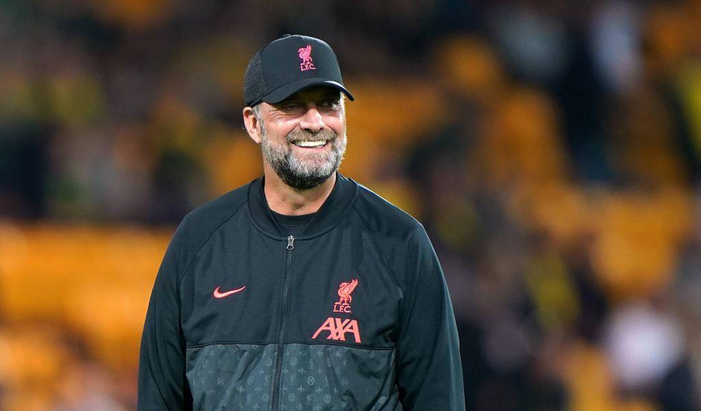 Jürgen Klopp in der Kleidung des FC Liverpool