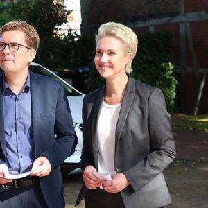 Manuela Schwesig am Sonntag mit ihrem Mann Stefan