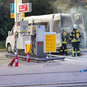 Feuer auf Tankstelle in Sittensen