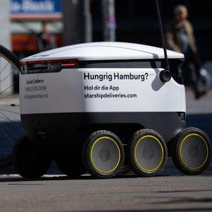 Ein Roboter von Starship Technologies