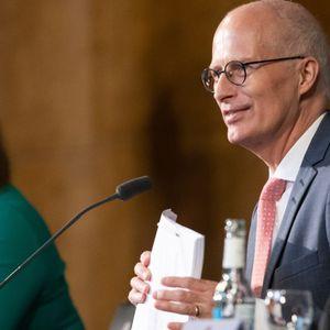 Hamburgs Bürgermeister Peter Tschentscher (SPD) und die Zweite Bürgermeisterin Katharina Fegebank (Grüne).