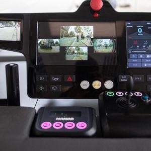 """Der Roboter-Minibus """"Heat"""" in der HafenCity verfügt über eine 360-Grad-Sicht."""