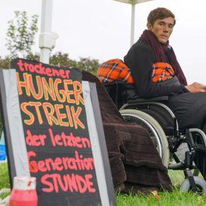 Henning Jeschke hatten wochenlang vor dem Bundestag für eine andere Klimapolitik gehungert.