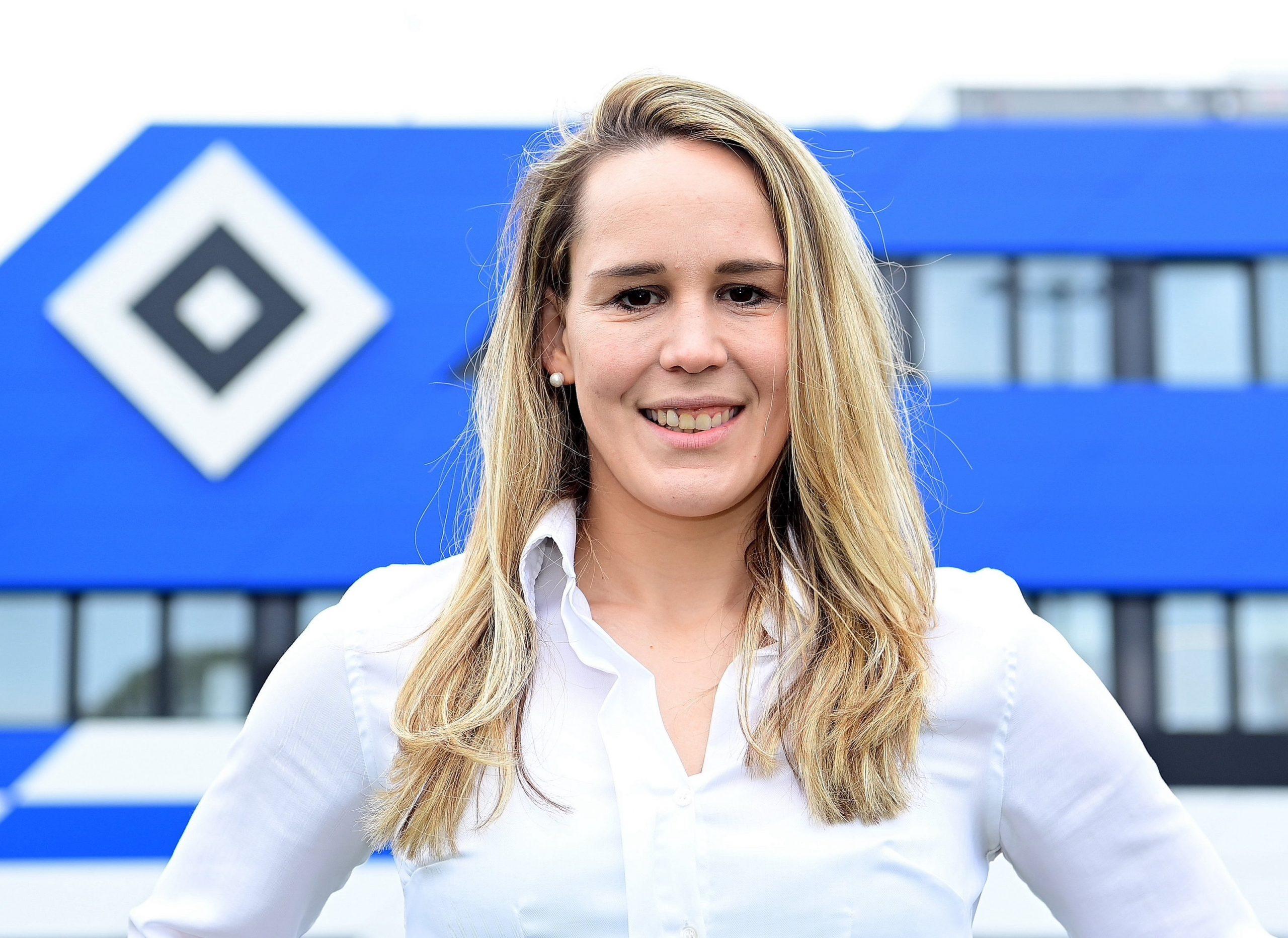 Die ehemalige Bundesliga-Spielerin Catharina Schimpf ist seit Juli 2021 Frauenfußball-Koordinatorin beim HSV.