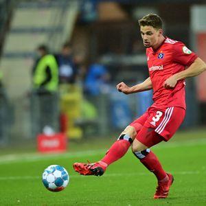 Moritz Heyer brachte den HSV in Paderborn in Führung.