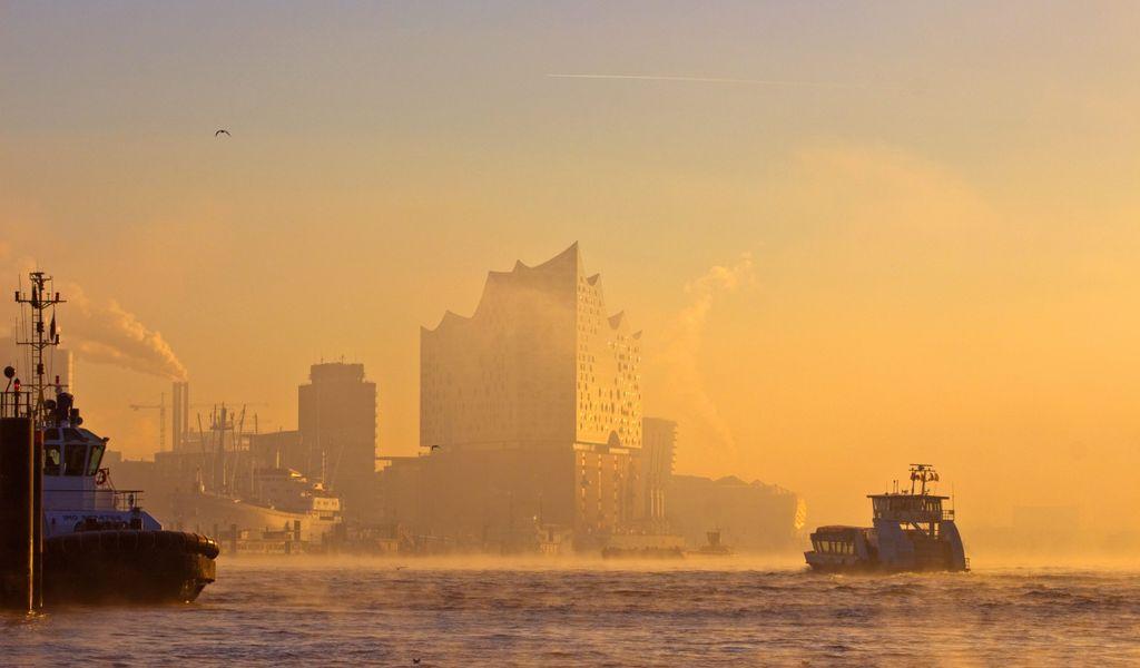 Blick auf die Elbphilharmonie Hamburg