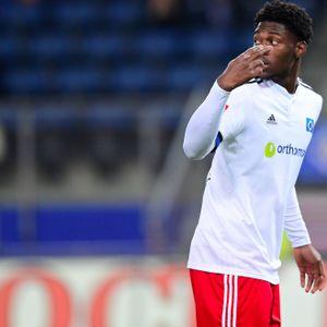 HSV-Talent Faride Alidou durfte gegen Düsseldorf erstmals in einem Pflichtspiel für die Profis ran.