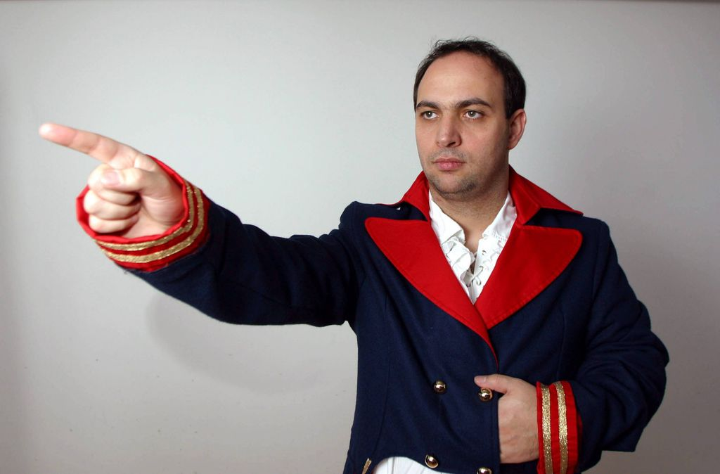 Bob Hanning in Napoleon-Montur