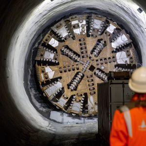 Ein Tunnelbohrer im Einsatz.