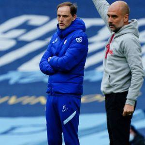Die Trainer Thomas Tuchel und Pep Guardiola