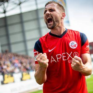 John Verhoek jubelt für Hansa Rostock