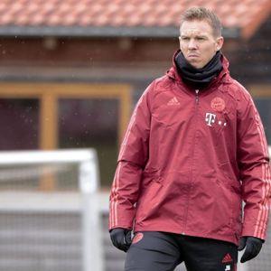 Julian Nagelsmann beim Training des FC Bayern München