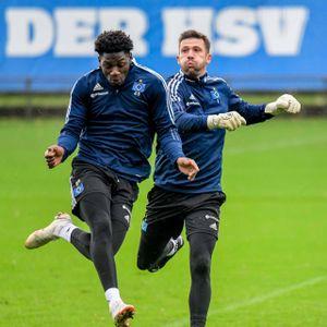 Nachwuchskicker Faride Alidou und Torwart Daniel Heuer Fernandes gehören bislang zu den HSV-Gewinnern in dieser Saison.